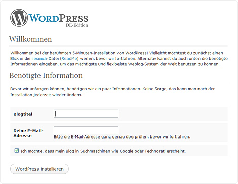 Internet-Adresse Blog Titel