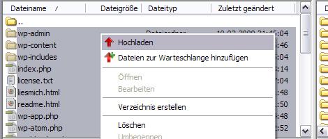 WordPress-Dateien