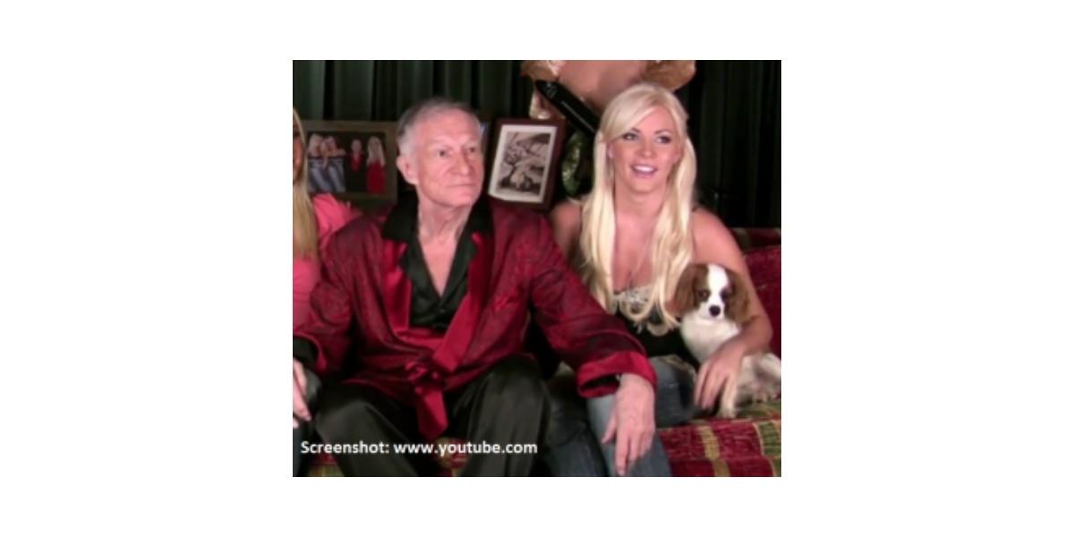 Playboy-Gründer- Hugh Hefner und Crystal Harris