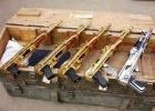 Goldene Waffen Sammlung von Saddam Hussein