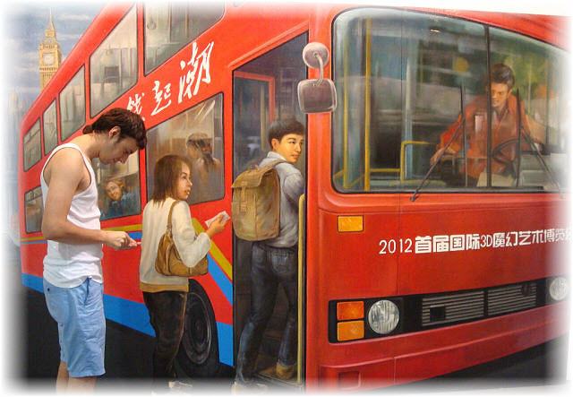Pseudo-3D Bild-Buss