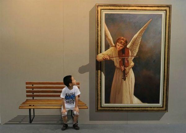Engel spielt Geige