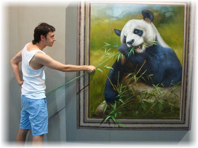 Pseudo-3D Bild-Pandabaer