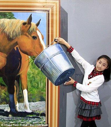 Pferd fuettern