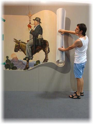 Pseudo-3D Bild-Sancho Panza