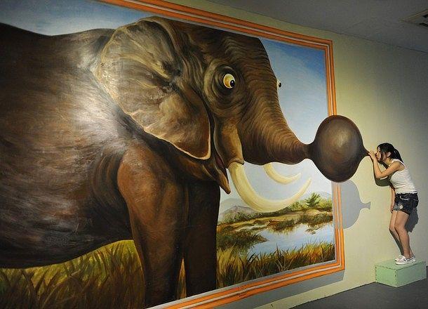 Elefantenhorn aufpumpen
