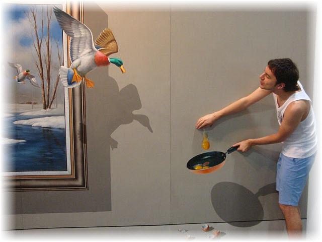 Pseudo-3D Bild-entente anflug