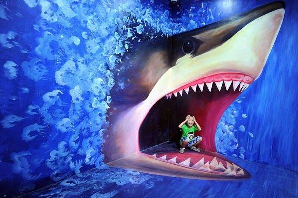 in der maul von weisse Hai