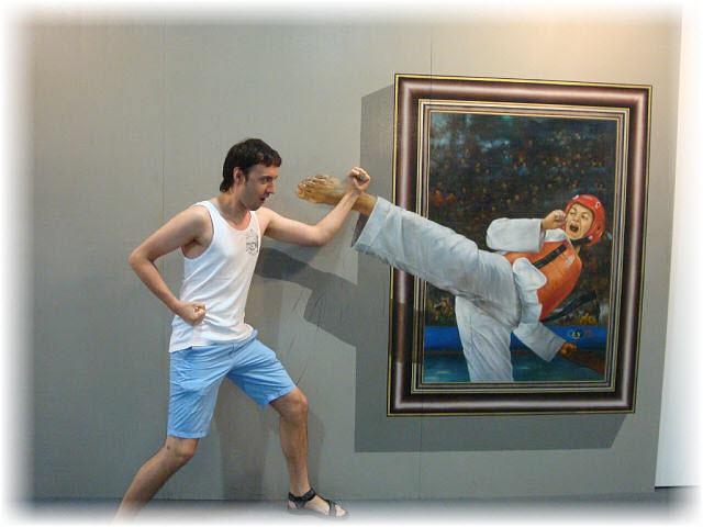 Pseudo-3D Bild-karate-block