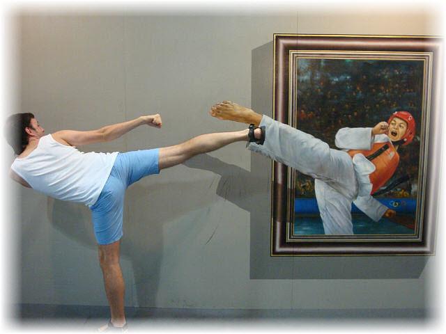 Pseudo-3D Bild-karate