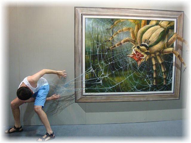 Pseudo-3D Bild-spinnennetz