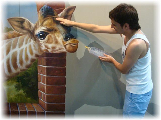 Pseudo-3D Bild Girafe