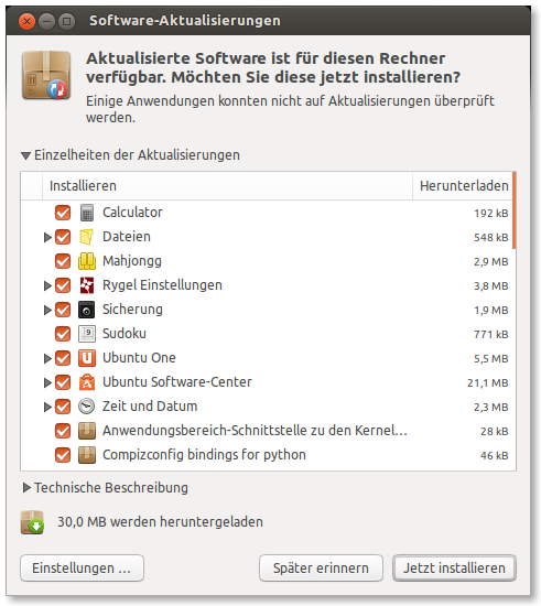 ubuntu-Aktualisierungsverwaltung