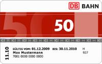 Die BahnCard 50 im Abonnement