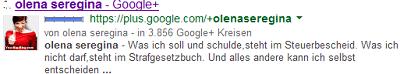 Google Author Olena Seregina