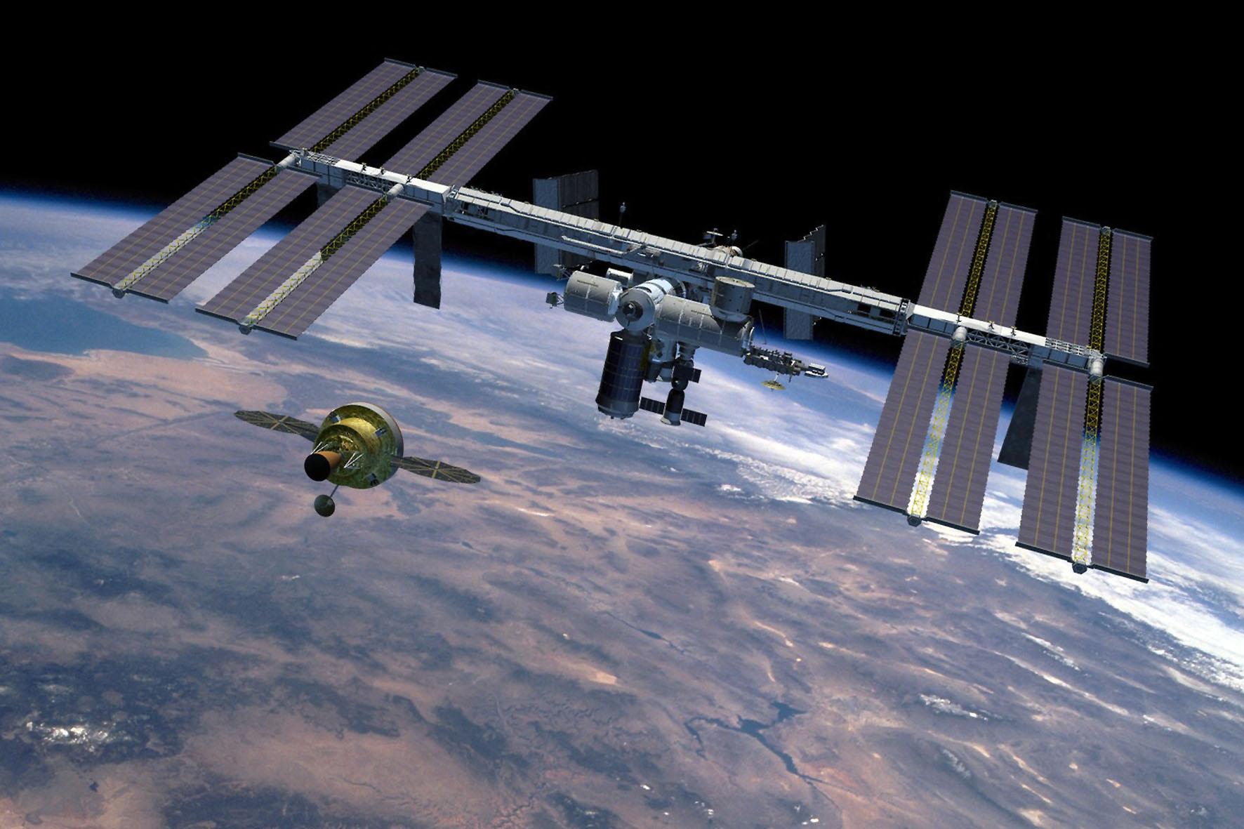 Die ISS ist zurzeit das größte künstliche Objekt im Erdorbit. Sie kreist in etwa 416 Kilometern Höhe alle 91 Minuten um die Erde und hat eine maximale Abmessung von etwa 110 mal 100 mal 30 Metern. Foto: djd/National Geografic Channel/NASA