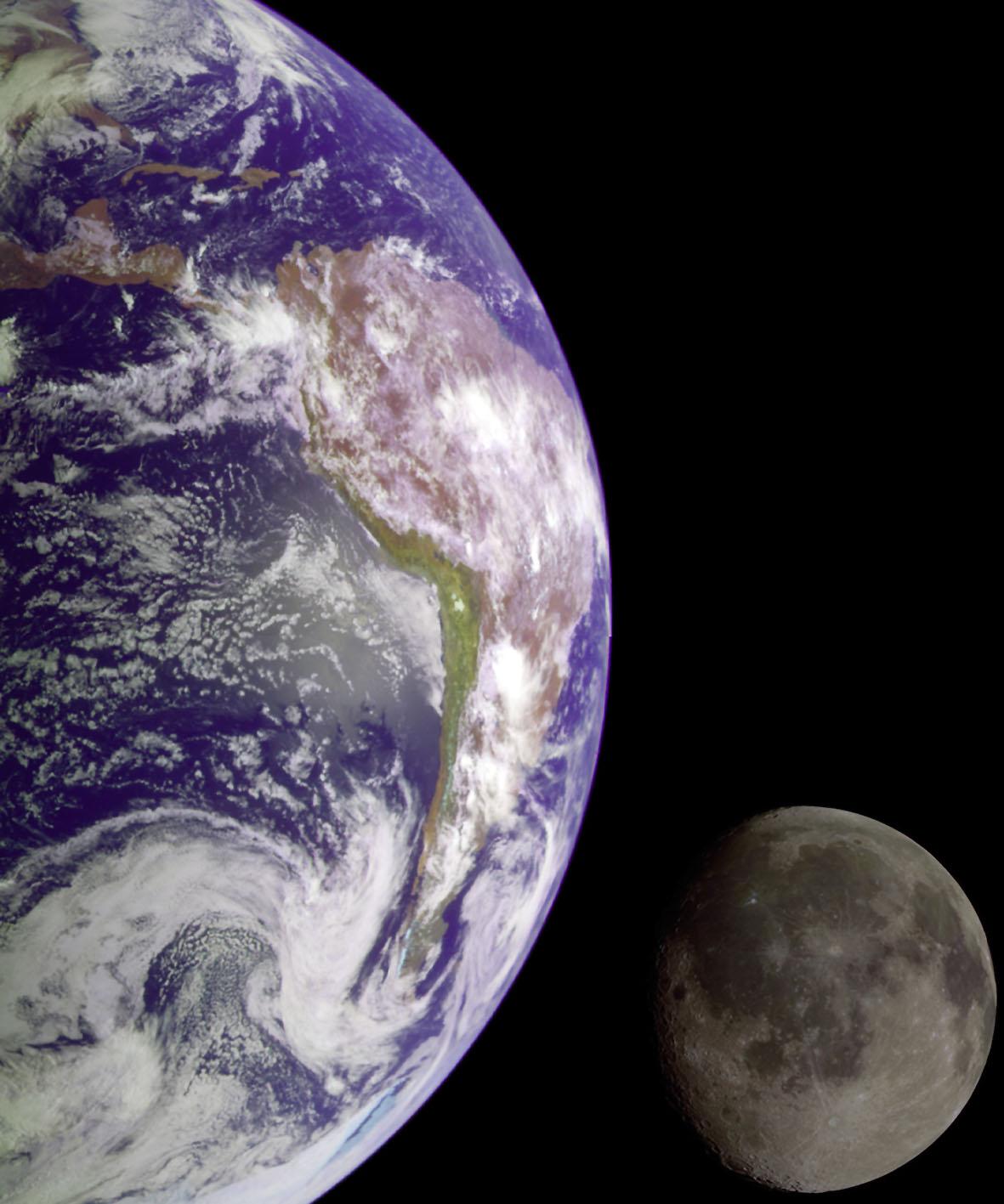 """""""Live from Space"""". Die ISS reist in 90 Minuten mit 28.000 Kilometern pro Stunde um die Welt und macht faszinierende HD-Bilder aus Kosmos vom blauen Planeten. Foto: djd/National Geografic Channel/NASA"""