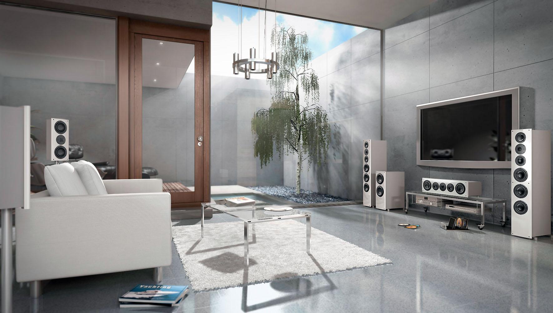 Hi-Fi Surroundsysteme, individuell abgestimmt auf den jeweiligen Raum, sorgen für besondere Klangerlebnisse.