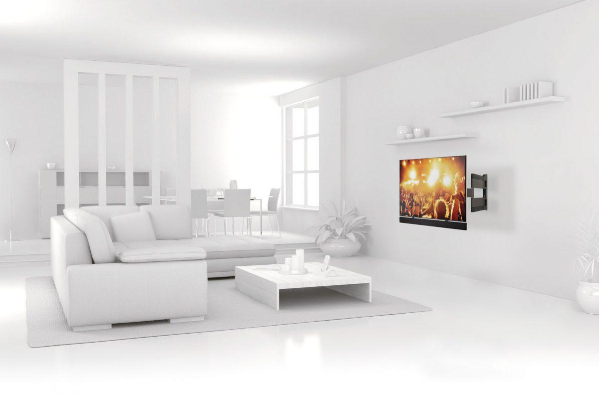 Beste Sicht auf den XXL-Bildschirm: Eine Befestigung an der Wand bietet zahlreiche Vorteile.