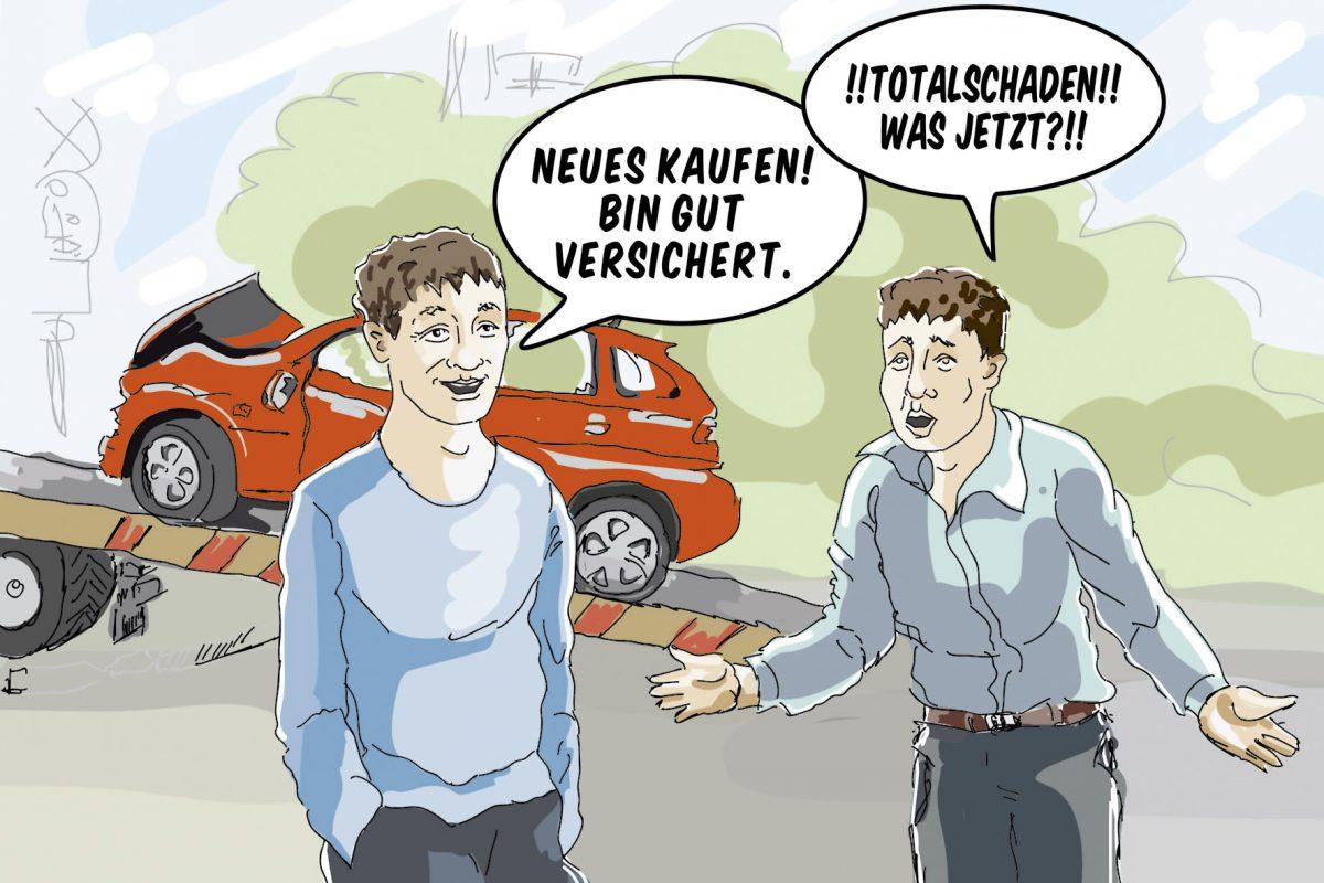 Gut, wenn man im Falle eines Totalschadens über einen Kaufpreisschutz verfügt und der Neupreis des Wagens erstattet wird.