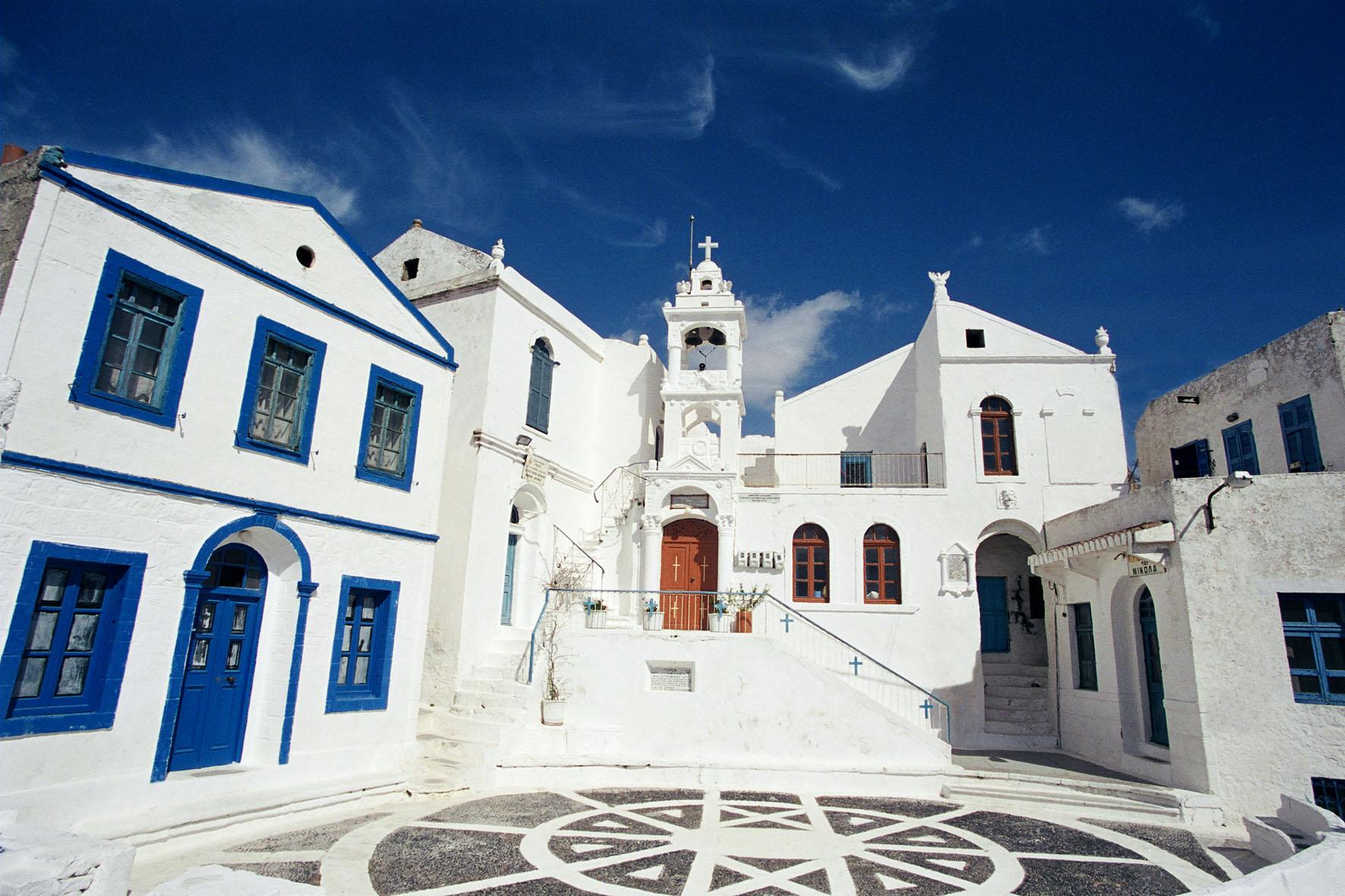 Der Marktplatz von Nikia auf Nissyros wurde als einer der schönsten in Europa ausgezeichnet.