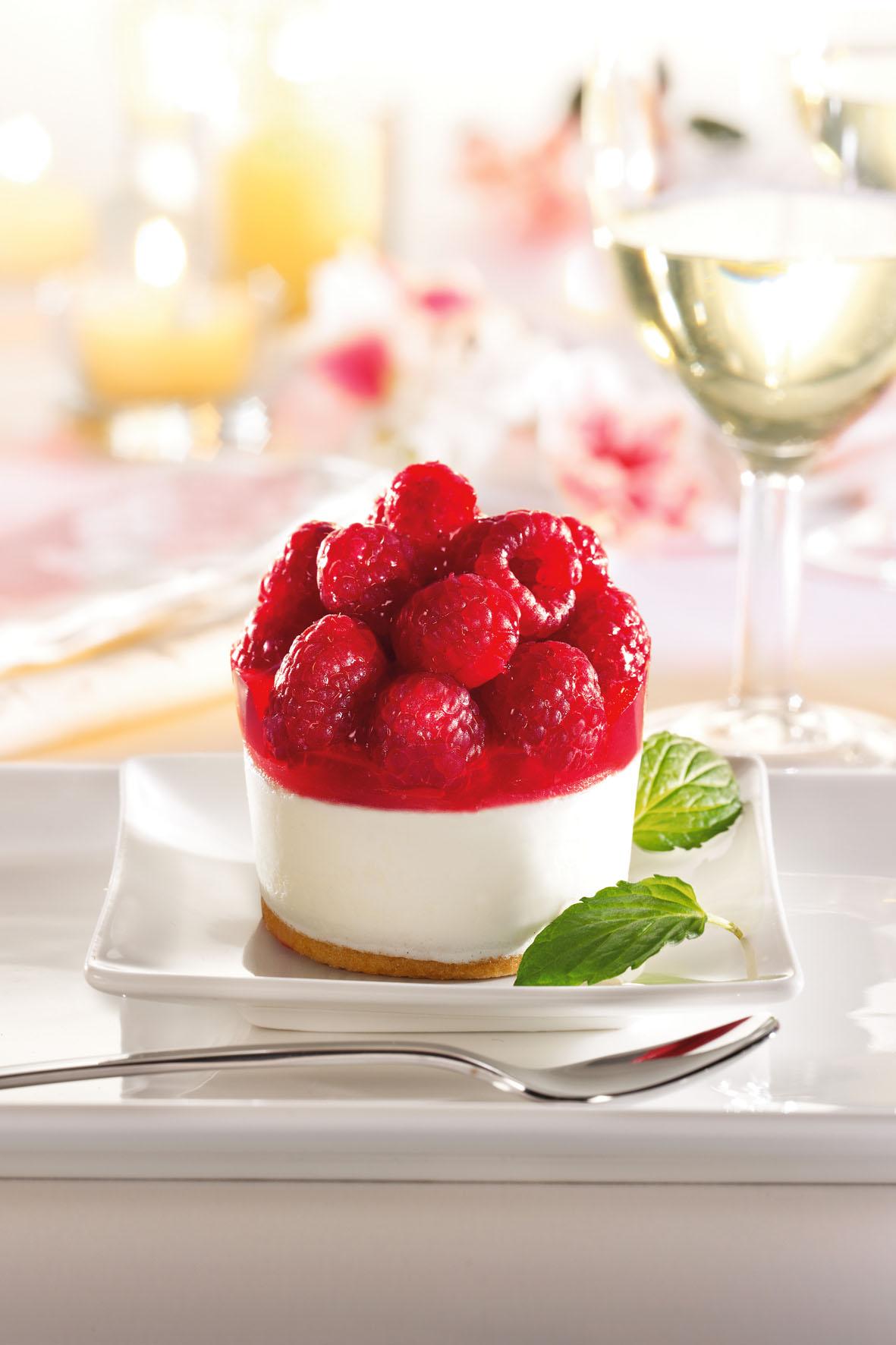 Das Himbeer-Joghurt-Törtchen wurde zum Dessert des Jahres 2014 gewählt.