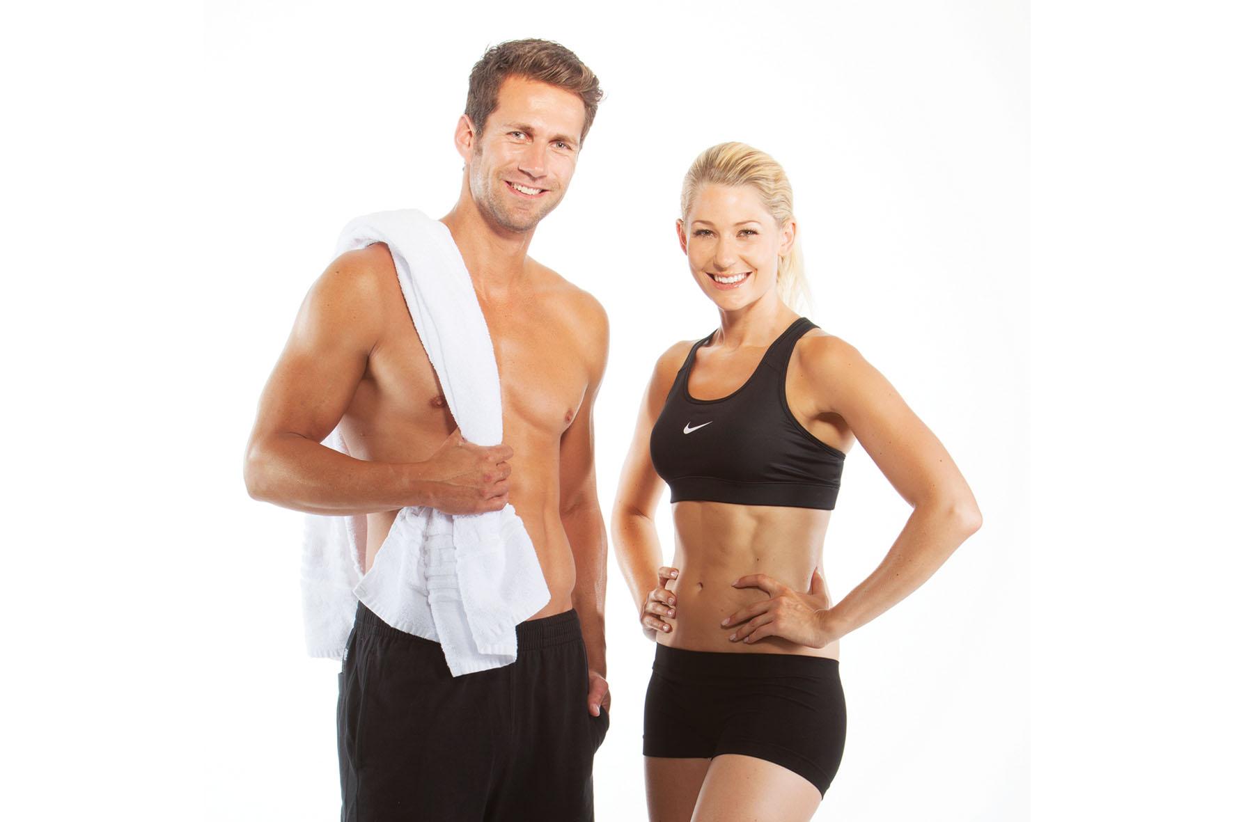 Regelmäßiges Training und basische Körperpflege tragen zu einem perfekten Körper bei.