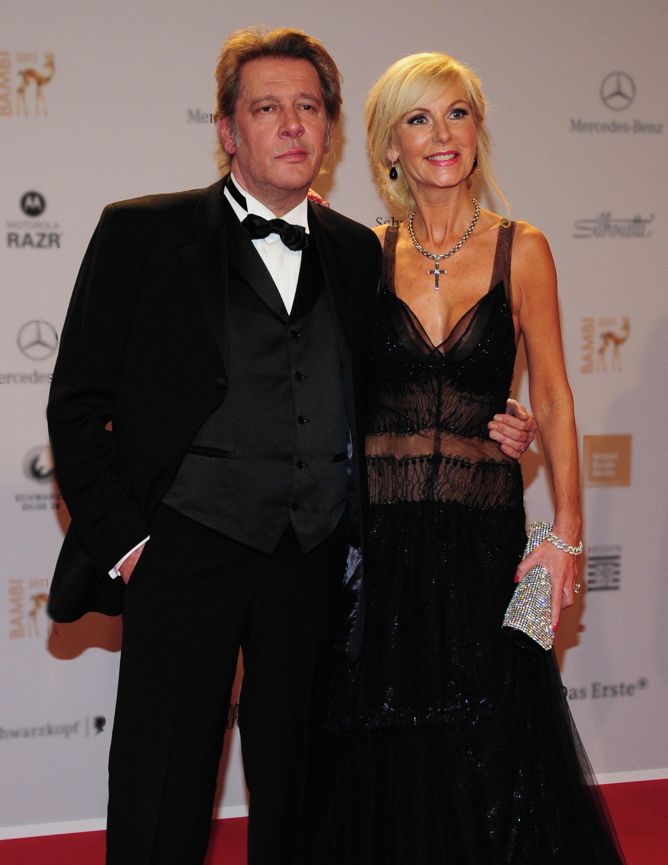 Jan Fedder mit seiner Ehefrau Marion beim Bambi