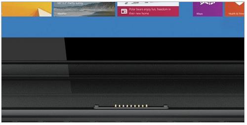Die Tastatur und das Tablet sind über Magnetverschluss verbunden