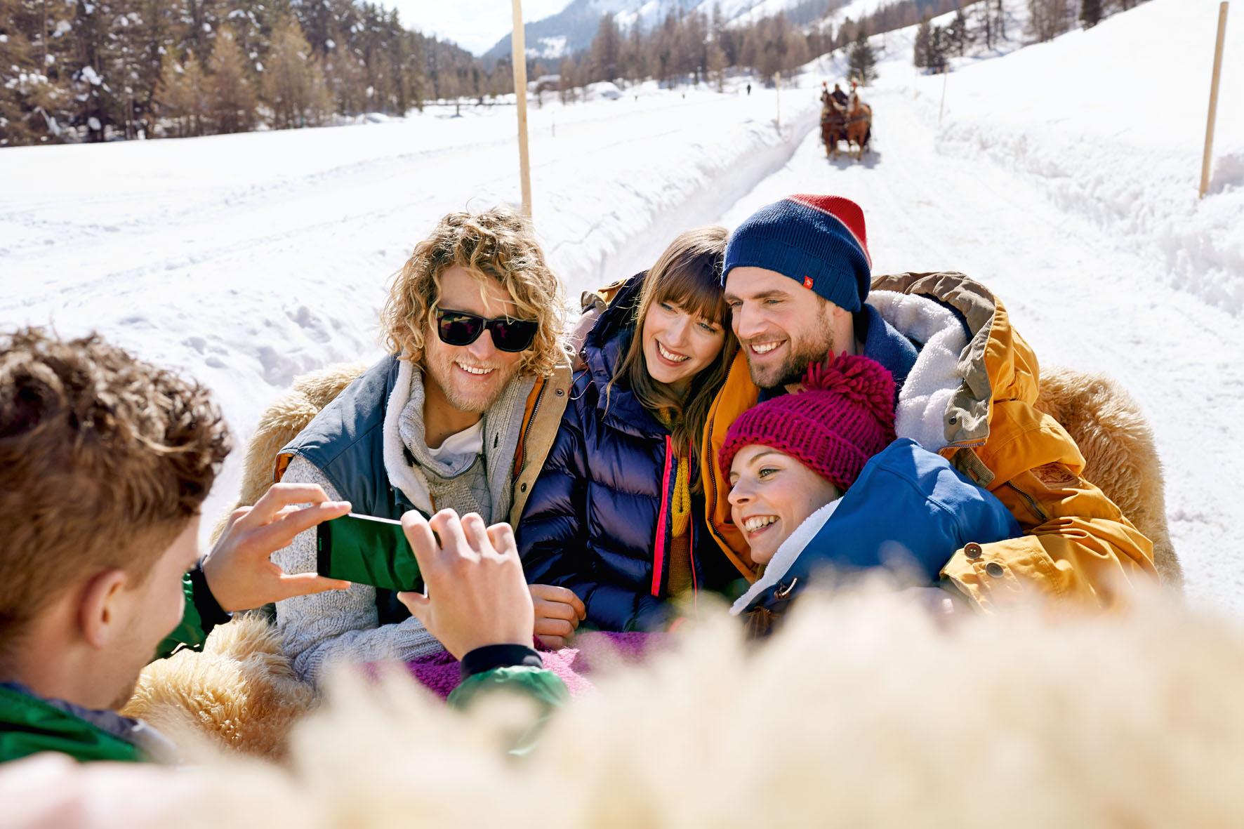 Dank Smartphone-Kamera bleibt der Weihnachtsurlaub im Schnee in bester Erinnerung.