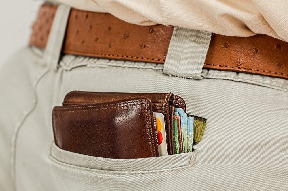 Portemonnaie bargeld kreditkarte tasche geld