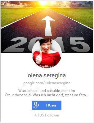 Blog Autorin Olena Seregina