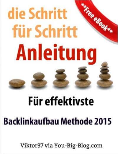 Backlinkaufbau Methode 2015 ebook cover