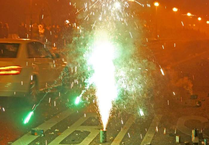 Feuerwerk in der Silvesternacht