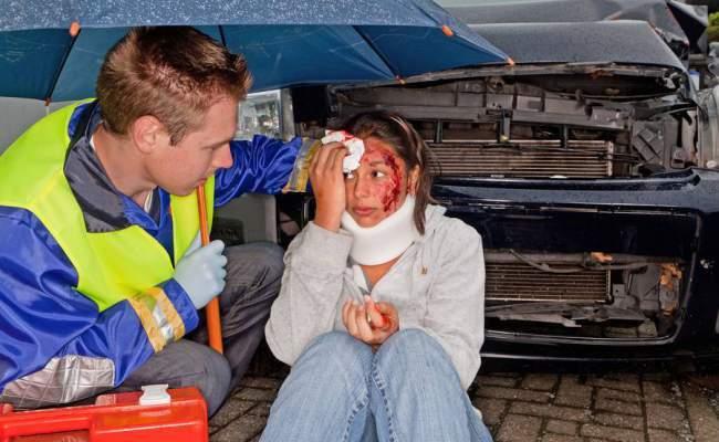 Erste-Hilfe bei einem Unfall