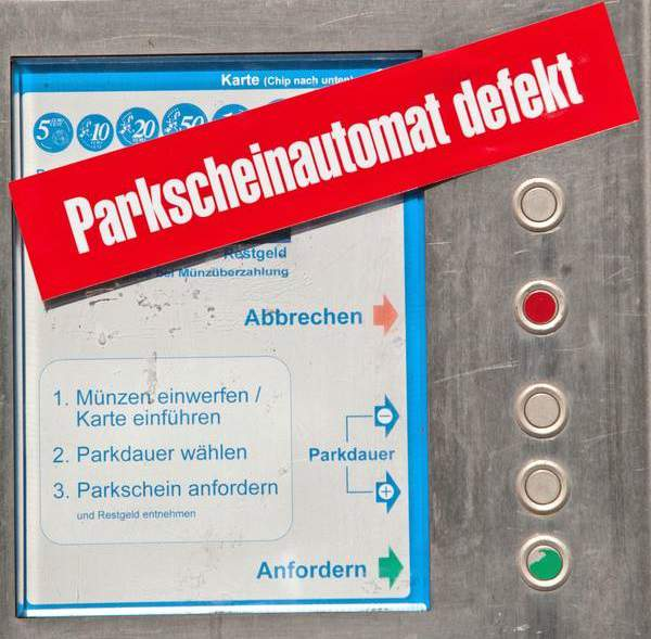Defekter Parkscheinautomat