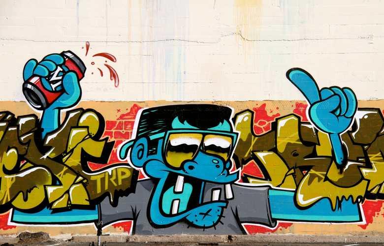 Graffiti Profi Graffitis auf Wand